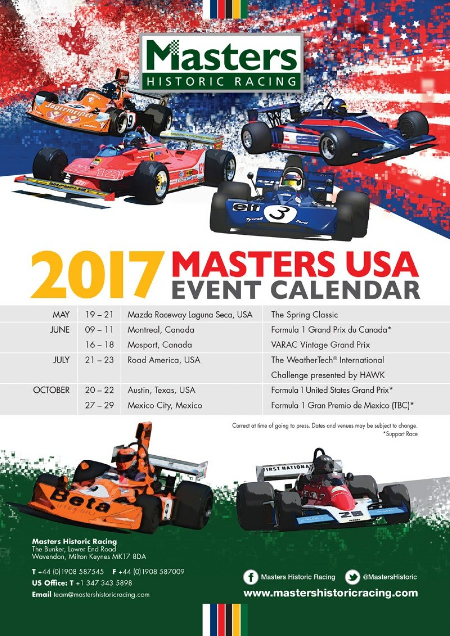 Masters USA Calendar released